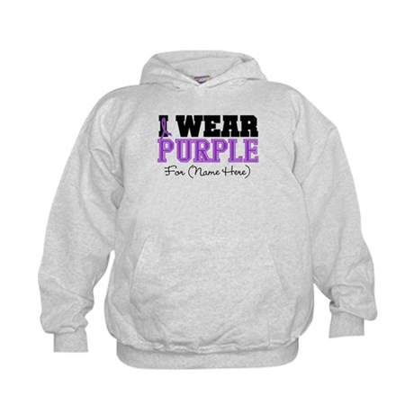 Custom Pancreatic Cancer Kids Hoodie