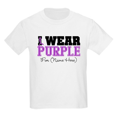 Custom Pancreatic Cancer Kids Light T-Shirt