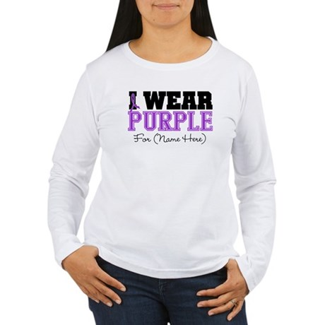 Custom Pancreatic Cancer Women's Long Sleeve T-Shi