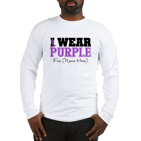 Custom Pancreatic Cancer Long Sleeve T-Shirt