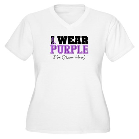 Custom Pancreatic Cancer Women's Plus Size V-Neck