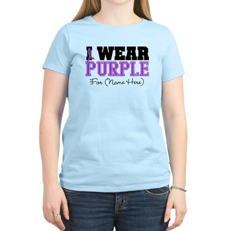 Custom Pancreatic Cancer Women's Light T-Shirt