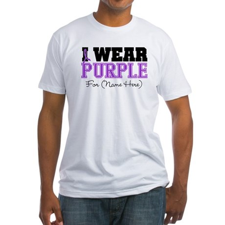 Custom Pancreatic Cancer Fitted T-Shirt