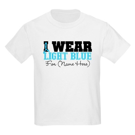 Custom Prostate Cancer Kids Light T-Shirt