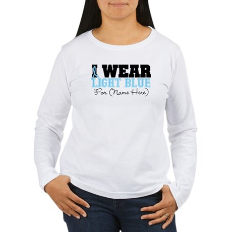 Custom Prostate Cancer Women's Long Sleeve T-Shirt