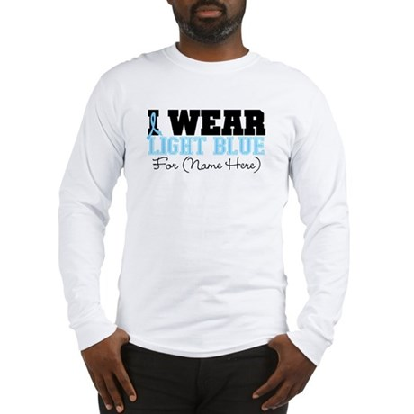 Custom Prostate Cancer Long Sleeve T-Shirt