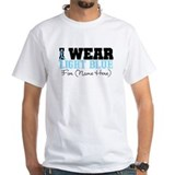 I wear light blue Mens White T-shirts
