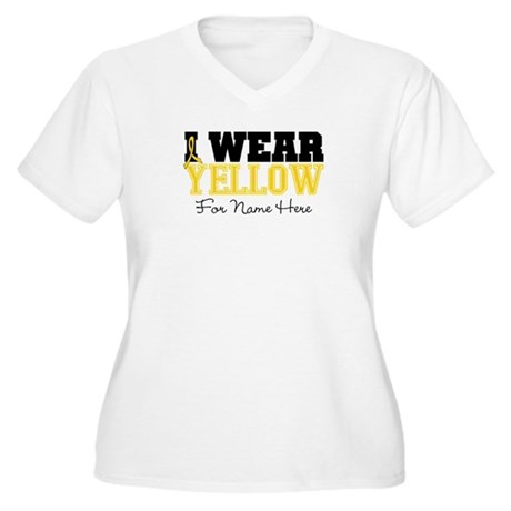 Custom Sarcoma Women's Plus Size V-Neck T-Shirt