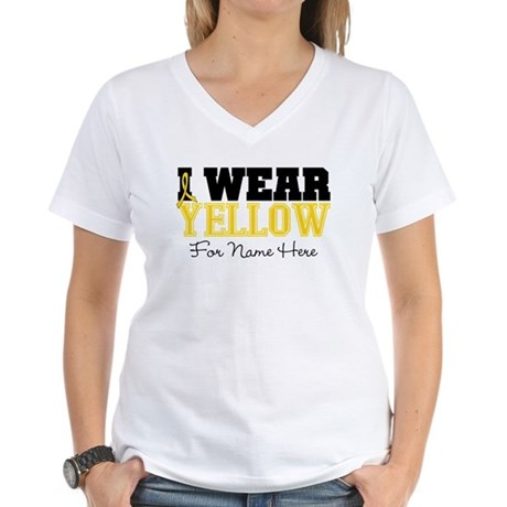 Custom Sarcoma Women's V-Neck T-Shirt