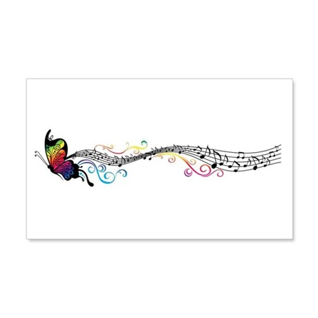 Butterfly Music 22x14 Wall Peel