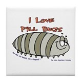 Pill Bug Isapod Tile Coaster
