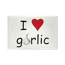 I Love Garlic Rectangle Magnet (10 pack)
