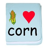 I Love Corn baby blanket
