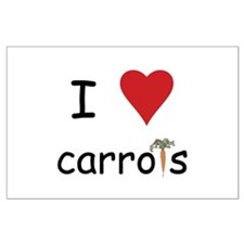 I Love Carrots Large Poster