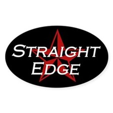 Straight Edge Oval Decal