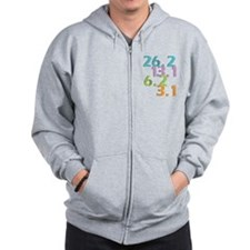 runner distances Zip Hoodie