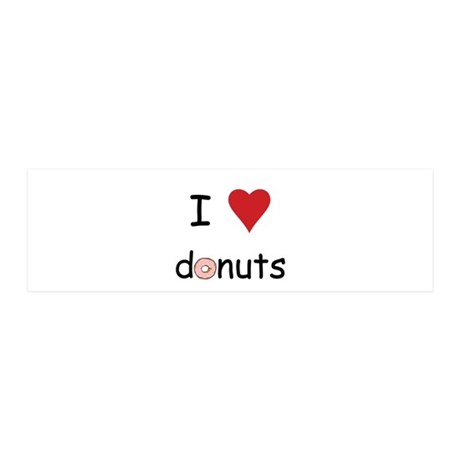I Love Donuts 20x6 Wall Decal
