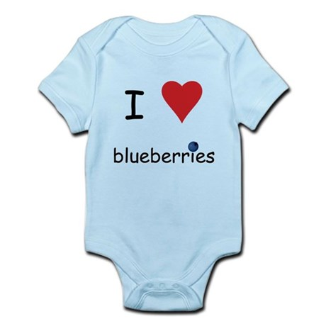 I Love Blueberries Infant Bodysuit