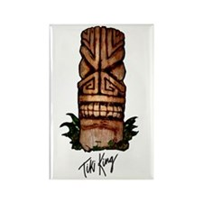 Palm Log Tiki Rectangle Magnet