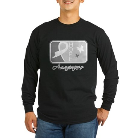 Brain Tumor Hope Tile Long Sleeve Dark T-Shirt