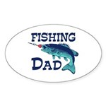 Fishing Dad Sticker (Oval)