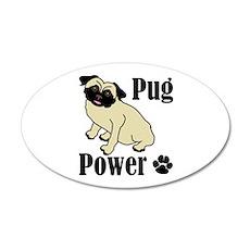 Pug Power 22x14 Oval Wall Peel
