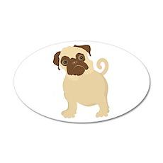 Hungry Pug 38.5 x 24.5 Oval Wall Peel
