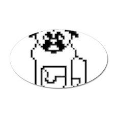 Pixel Pug 22x14 Oval Wall Peel