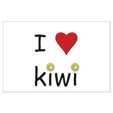 I Love Kiwi Large Poster