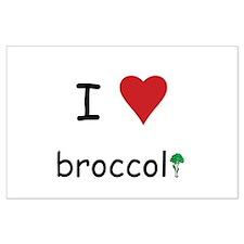 I Love Broccoli Large Poster