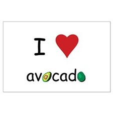 I Love Avocado Large Poster
