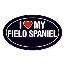 I Love My Field Spaniel Oval Sticker/Decal