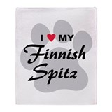 Finnish Spitz Throw Blanket