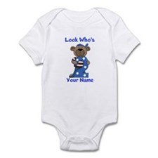 birthday bear 2 custom Infant Bodysuit