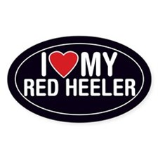 Cattle Dog/Red Heeler Oval Sticker/Decal