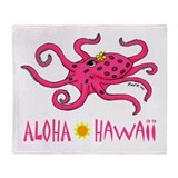 Aloha Octopus Throw Blanket