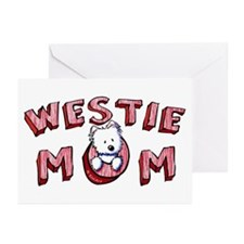 Westie Mom (Red) Greeting Cards (Pk of 10)