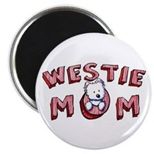 "Westie Mom (Red) 2.25"" Magnet (10 pack)"