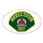 Norwalk Sheriff Sticker (Oval 50 pk)