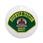 Norwalk Sheriff Ornament (Round)