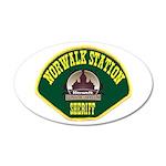 Norwalk Sheriff 38.5 x 24.5 Oval Wall Peel