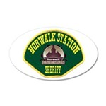 Norwalk Sheriff 22x14 Oval Wall Peel