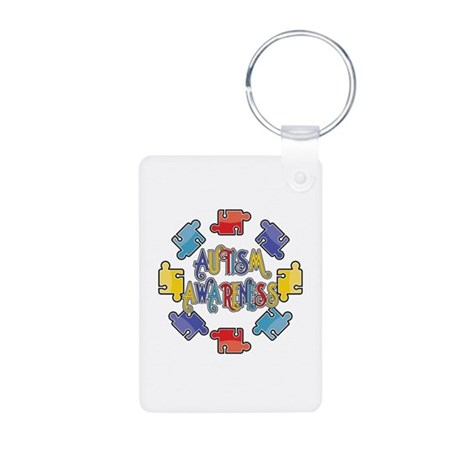 Autism Awareness Puzzles Aluminum Photo Keychain