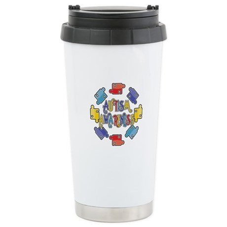 Autism Awareness Puzzles Ceramic Travel Mug