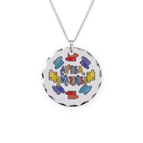 Autism Awareness Puzzles Necklace Circle Charm