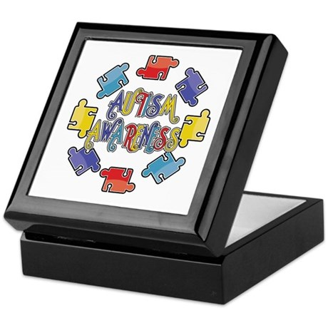 Autism Awareness Puzzles Keepsake Box