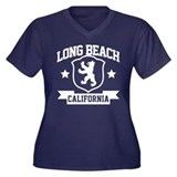 Long Beach Heraldry Women's Plus Size V-Neck Dark