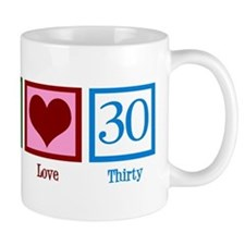 Peace Love 30 Small Mugs
