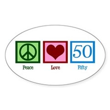 Peace Love 50 Decal