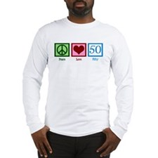 Peace Love 50 Long Sleeve T-Shirt